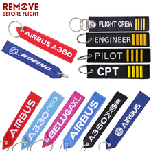 AIRBUS A380 Keychain Double-sided Embroidery A320 Aviation Key Ring Chain for Aviation Gift Strap Lanyard A350 Keychains