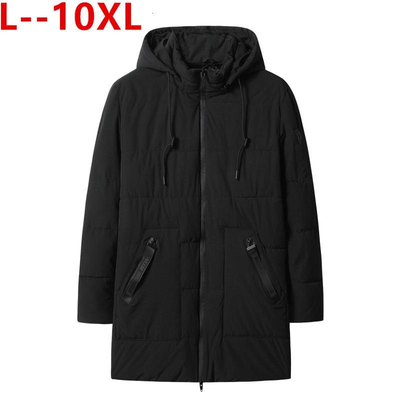 8XL 6XL Long Parkas Winter Jacket Men New Warm Windproof Casual Outerwear Padded Cotton Coat Big Pockets High Quality Parkas Men