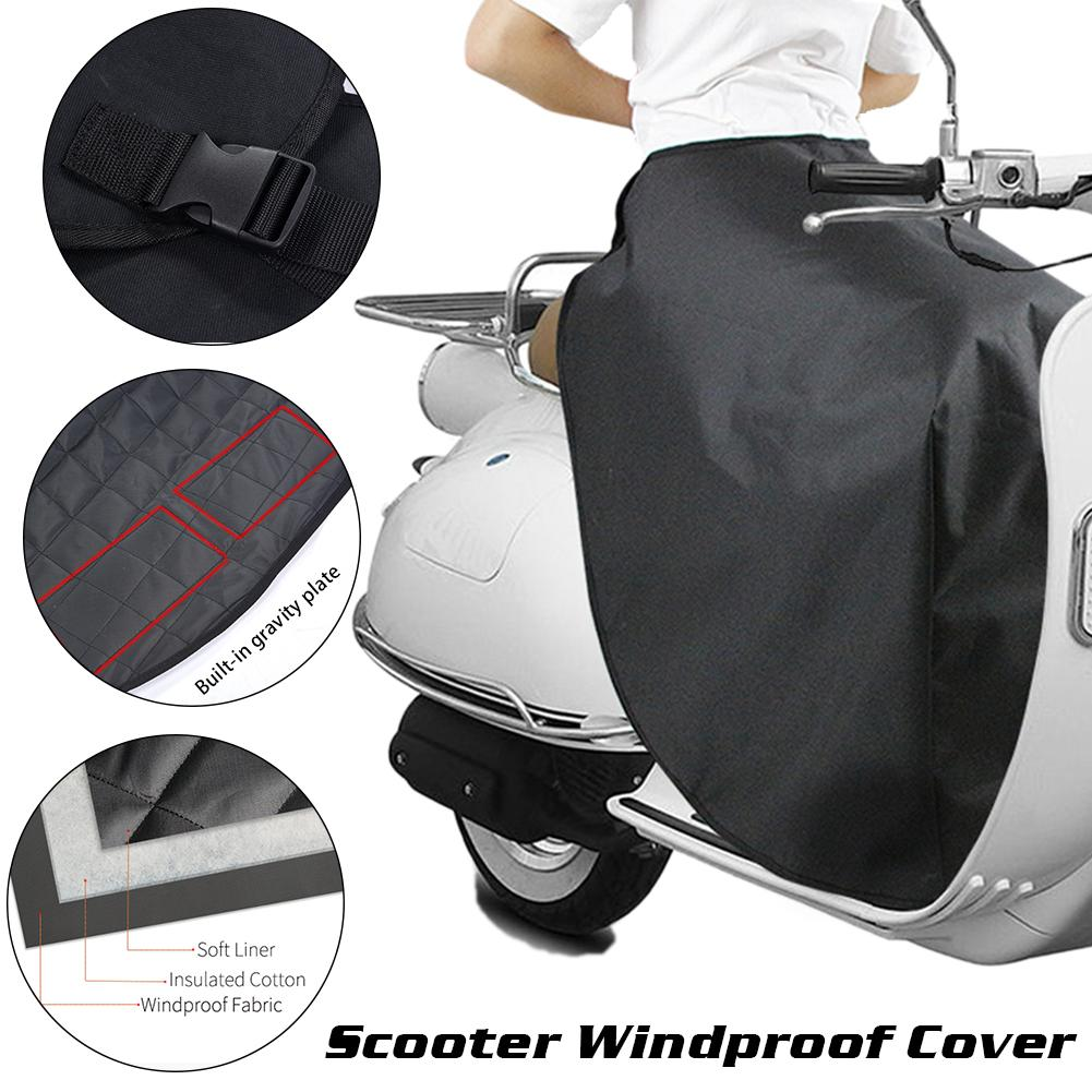 Universal Motorcycle Scooter Leg Cover Black Windproof Waterproof Leg Protection Cover Lap Apron Warm Cover