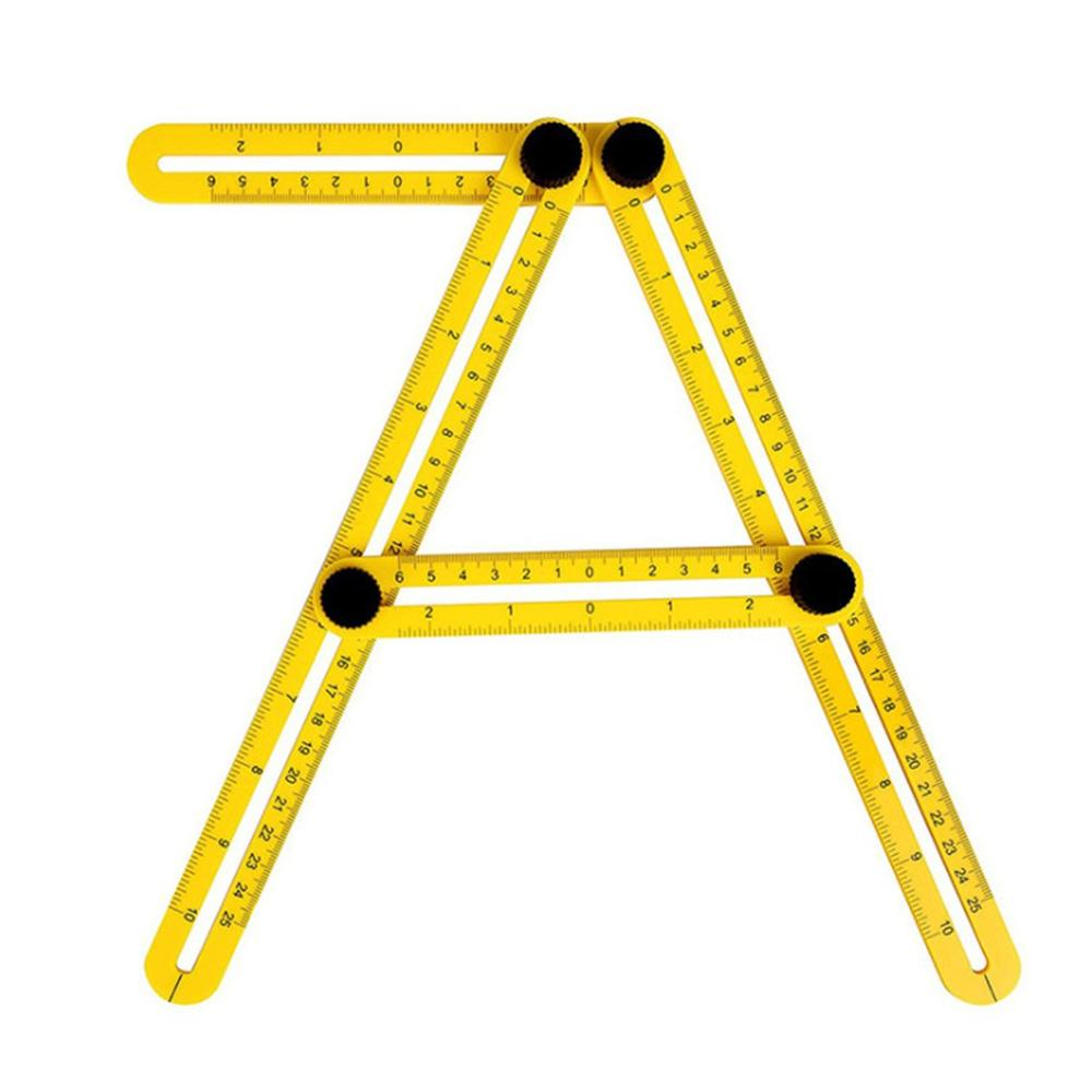 Multifunctional Plastic Ruler Four-sided Measuring Angle Finder Protractor Multi-Angle Ruler Layout Tool Angle Ruler