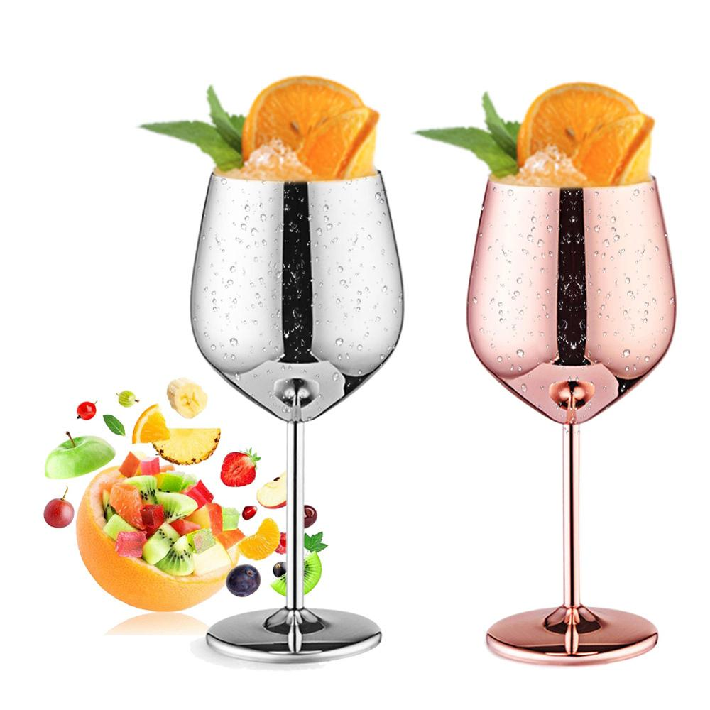 500mL Stainless Steel Juice Drink Champagne Goblet Drum Shape Red Wine Cup Party Barware Kitchen Tools|Wine Glasses|   - AliExpress