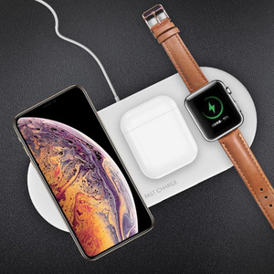 Image 2 - 3 in 1 Portable Wireless Charger for iPhone 11 Samsung S8 Fast Wireless Charging Pad for Apple Watch iWatch 4 3 2 1 for Airpods