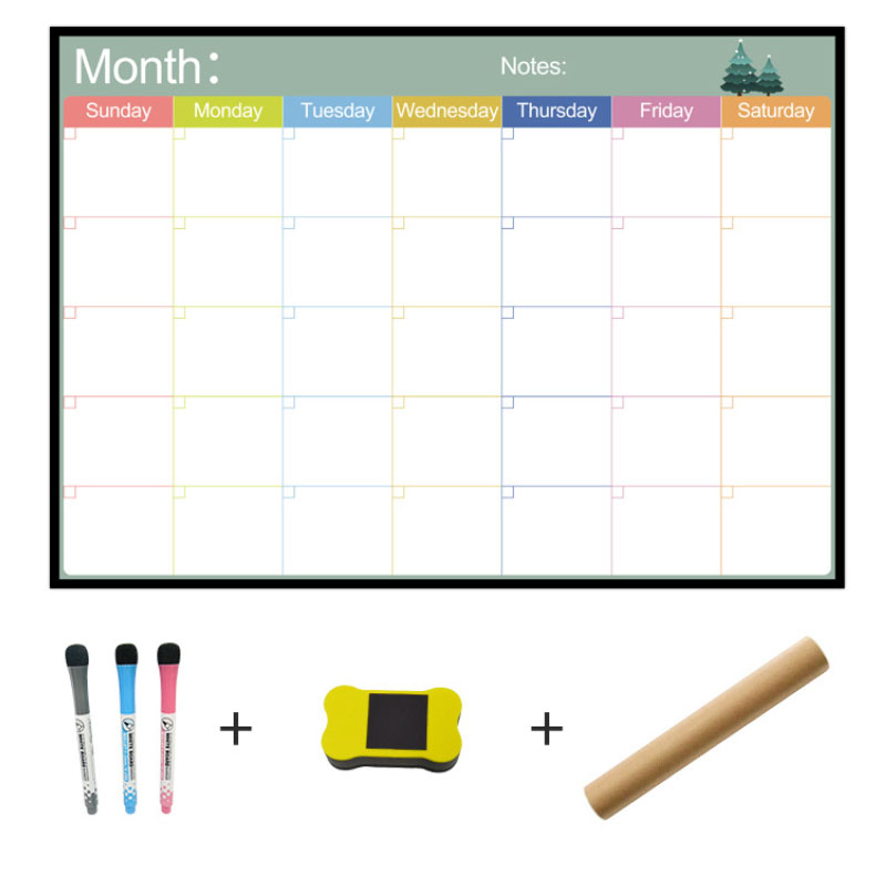 A3 Whiteboard Monthly Planner Magnetic Message Board For School Bulletin Memo Boards Fridge Magnet Calendar Daily Planner