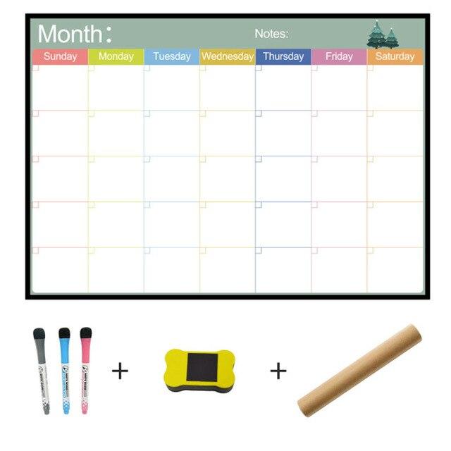 A3 tablica miesięczny terminarz magnetyczna tablica ogłoszeń do szkoły biuletyn tablice Memo lodówka magnes kalendarz terminarz