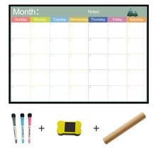A3 السبورة مخطط شهري المغناطيسي رسالة المجلس للمدرسة نشرة مذكرة لوحات مغناطيس الثلاجة التقويم مخطط اليومي