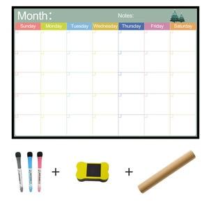 Image 1 - A3 ホワイトボード毎月プランナー磁気メッセージボード学校掲示板メモボード冷蔵庫マグネットカレンダーデイリープランナー