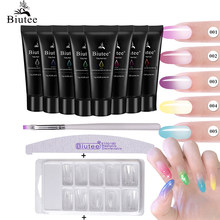 15 Ml Thermische Kit Extension Poly Gel Set Poly Frankrijk Jelly Crystal Kleur Veranderende Uv Led Polygel Quick Builder Soak off Gel(China)