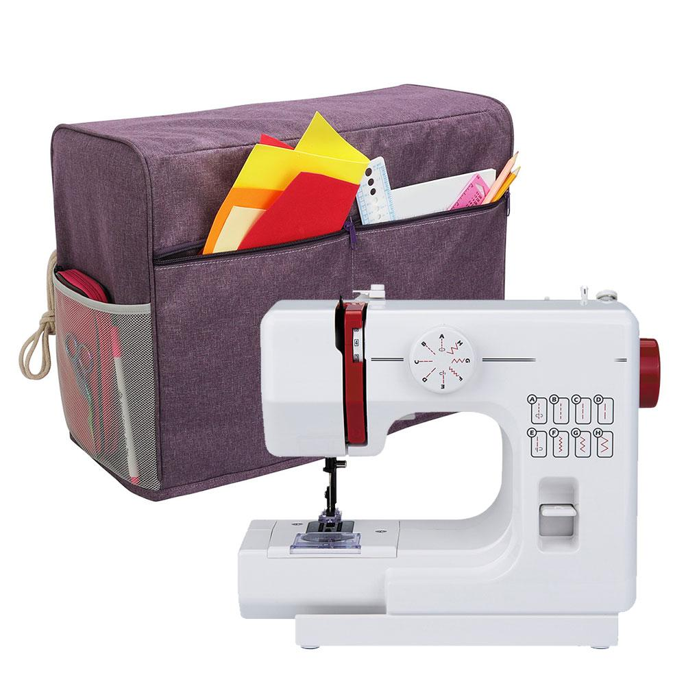 1PCS Waterproof Sewing Machine Dust Cover With 3 Pockets Sewing Machine Storage Bag Accessories