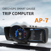 Car On-Board Smart Computer Temperature Gauge Meter Digital Speed Fuel OBD2 GPS for Caring