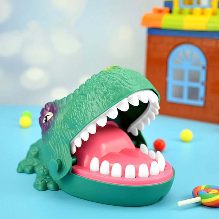 Funny Board Game Toys Crocodile Mouth Dentist Bite Finger Toy Large Crocodile Pulling Teeth Bar Games Toys Kids For Children 5
