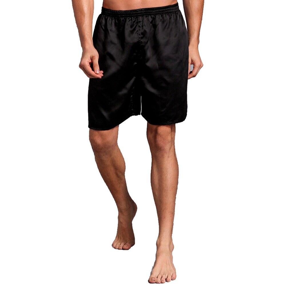 Hot Sale Chinese Men's Satin Pajamas Pyjamas Pants Male Casual Lounge Short Pants Vintage Print Sleep Bottoms M L XL 2XL 0721