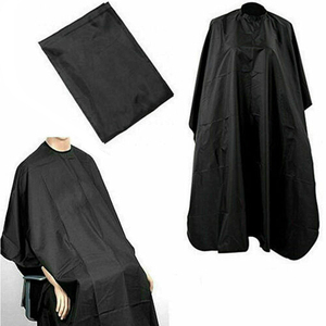 Image 1 - Black Hairdressing Cape Professional Hair Cut Salon Barber Cloth Wrap Protect Gown Apron Waterproof Cutting Gown Hair Cloth Wrap