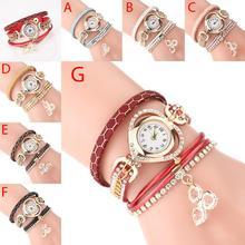 Женский браслет часы, украшения блестящие украшения сердце кожаный ремешок Змеиный узор часы женские Relogio Feminino дропшиппинг
