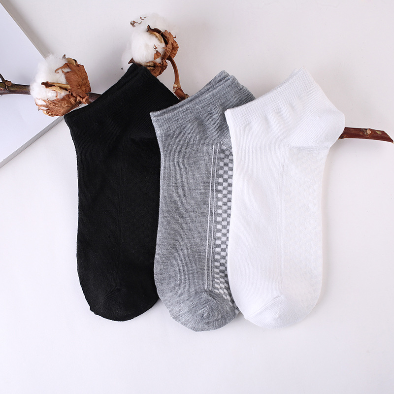 6pieces=3pair/lot Summer Cotton Man Short Socks Fashion Breathable Man Boat Socks Comfortable Casual Socks Male white hot