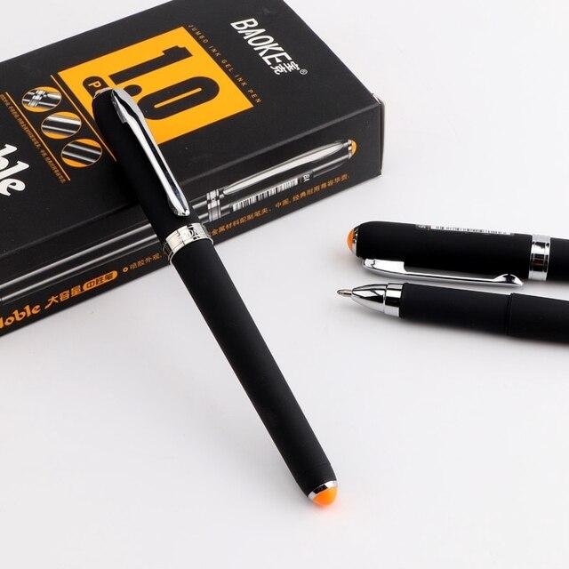 BAOKE 12 pièces 0.5mm/0.7mm/1.0mm grand stylo Gel givré pour stylo à encre scolaire noir affaires stylos neutres bureau écriture papeterie