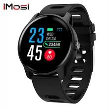 Imosi S08 Women Sport Pedometer Smart Watch IP68 Waterproof Fitness Tracker Heart Rate Monitor men Clock Smartwatch
