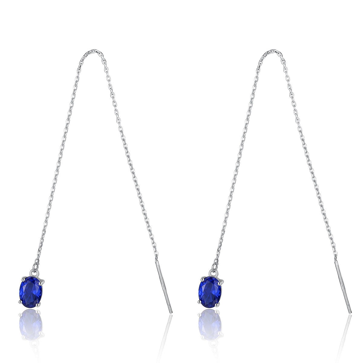 Fenchen Link-Chain Earrring Topaz-Tassel Fine-Jewelry 925-Sterling-Silver Women Long