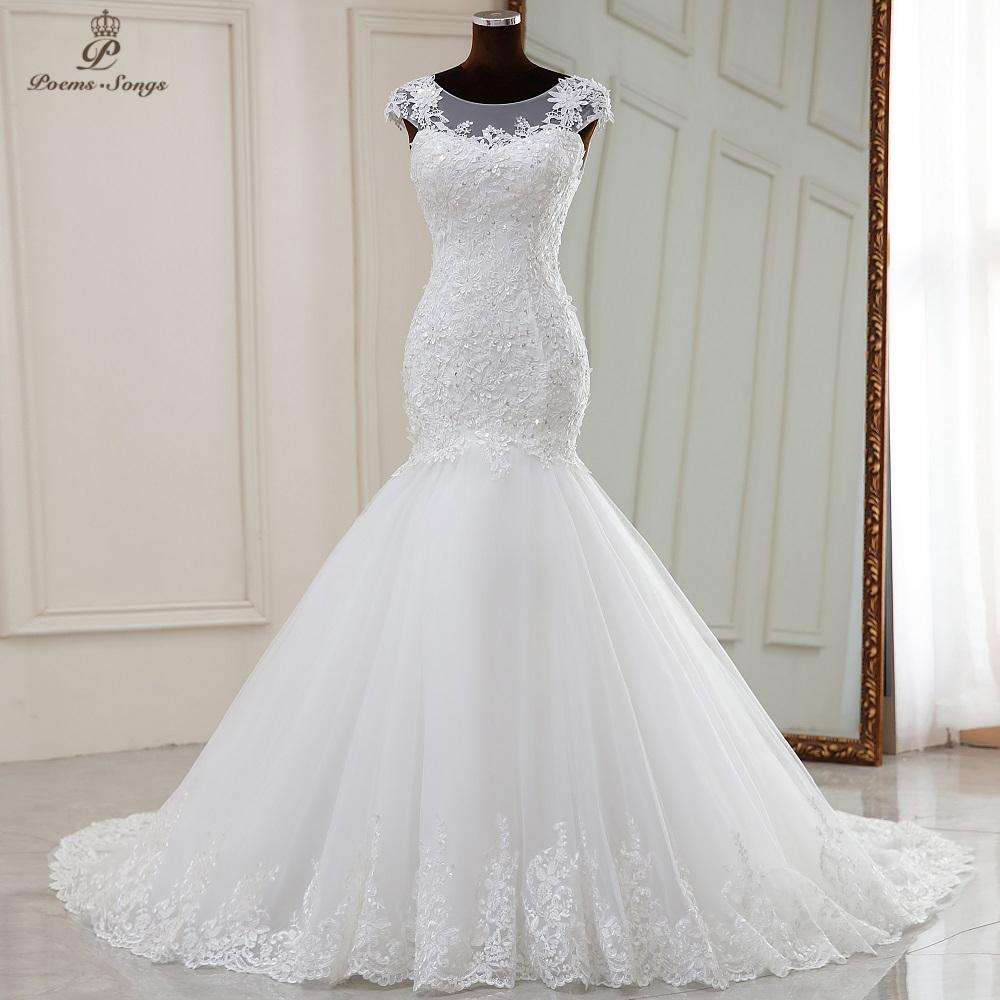 Real photo Real video Elegant mermaid wedding dress 2021 marriage dress robe de mariee vestidos de novia sereia