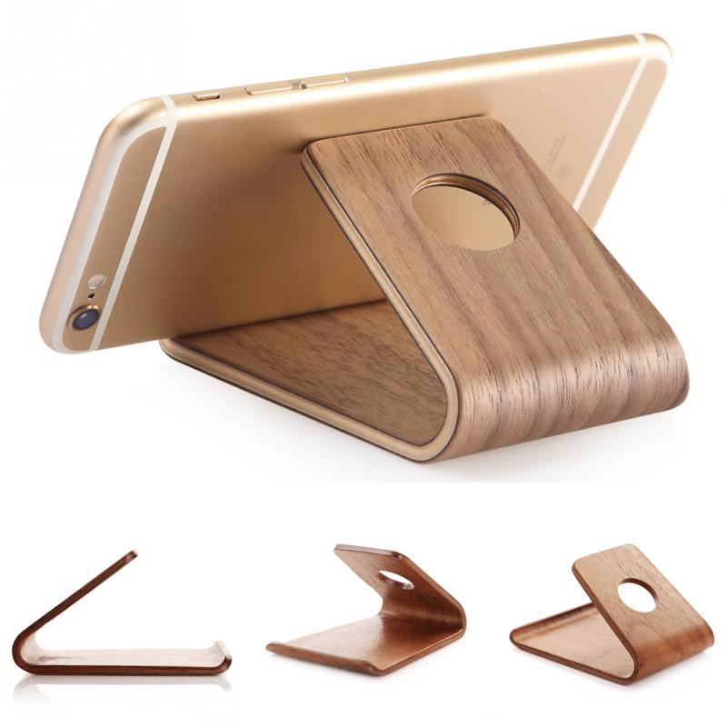 Universal Wooden Mobile Phone Holder Bamboo Wood Stand Holder For IPad For IPhone SE 6 6S For Samsung S6 S7 Note5 For Huawei