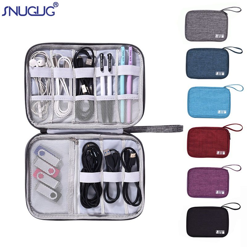 Waterproof Travel Electronic Accessories Organizer Bag Oxford Travel Gadget Carry Bag New Power Cord Charger Travel Accessories(China)