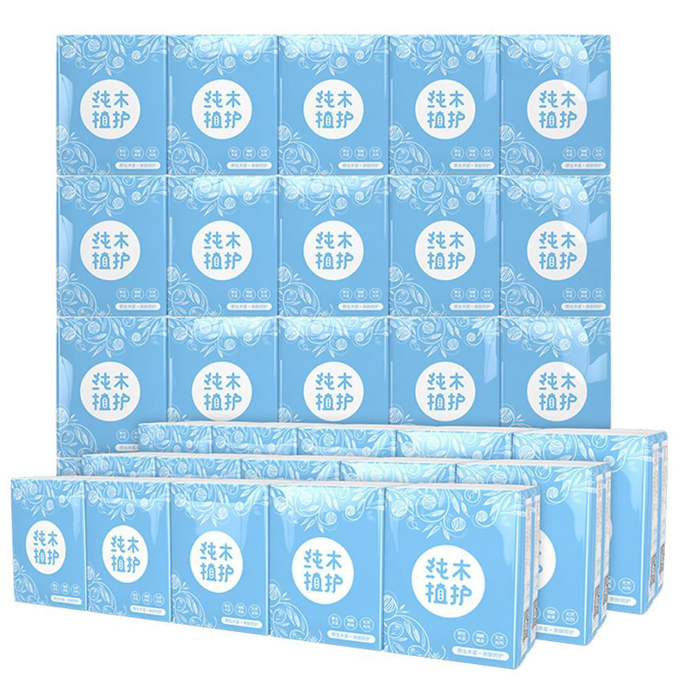 30 Bags Toilet Paper Napkins Multifold Paper Towels Packet Pockets Household Bathroom Tissues 3 Layers Handkerchief