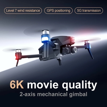 WLRC M1 Pro2 4K GPS Drone 2-Axis Gimbal Professional 6k HD Camera 28mins 1600M 5G Image 32GB TF Card Gifts Boys toy VS SG906 Max 2