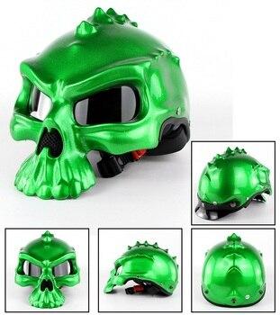 Casco de moto con diseño de calavera de moda Kask Motor DOT...