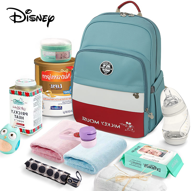 Disney USB Diaper Bag Baby Care Backpack For Mom Mummy Nappy Bag Maternity Wet Bag Waterproof Pregnant Pram Wheelchairs