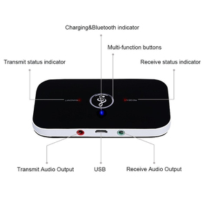 Image 4 - Upgrade B6 Bluetooth 5.0 Transmitter Receiver Wireless Audio Adapter For PC TV Headphone Car 3.5mm 3.5 AUX Music Receiver Sender