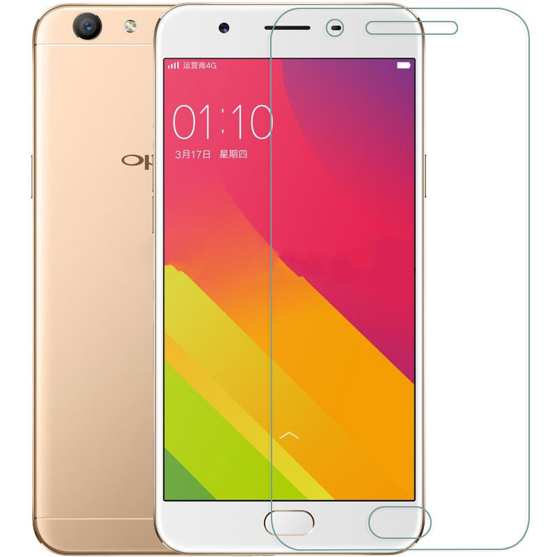 9H Hardness Protective Glass For OPPO F7 A57 A79 Screen Protector On OPPO F3 R7S R7 R9S R9 Plus Clear Tempered Glass