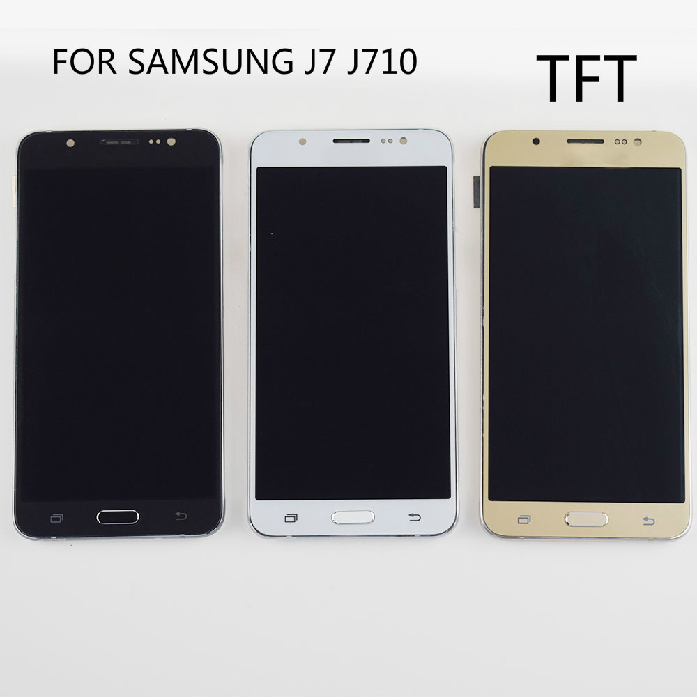 <font><b>LCD</b></font> <font><b>Display</b></font> Touch Screen Digitizer Montage Ersatz 100% Test <font><b>LCD</b></font> Für <font><b>Samsung</b></font> Galaxy <font><b>J7</b></font> <font><b>2016</b></font> <font><b>LCD</b></font> Bildschirm J710 J710F J710FN image