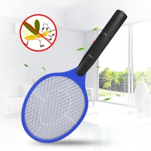 Cordless Battery Power Electric Fly Mosquito Swatter Bug Zapper Racket Insects Killer