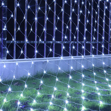 BEIAIDI LED Net Mesh String Light 2X2M 3X2M 6X4M Outdoor Christmas Tree Garland Holiday Wedding Party Window Icicle String Light