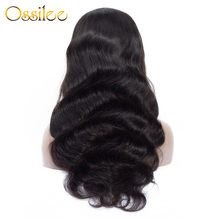 Ossilee – perruque Full Lace wig Remy naturelle, Body Wave, cheveux humains, pre-plucked, avec Baby Hair, pour femmes