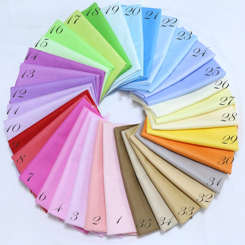 Однотонная хлопчатобумажная ткань 100% хлопок Лоскутная Ткань для самостоятельной сборки простыни материал ручной работы