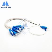 20 PCS/Lot Fiber Optic Splitter1X16 PLC SC/UPC SM Singlemode Mini Module 0.9mm G657A1 PVC 1m FTTH Blockless