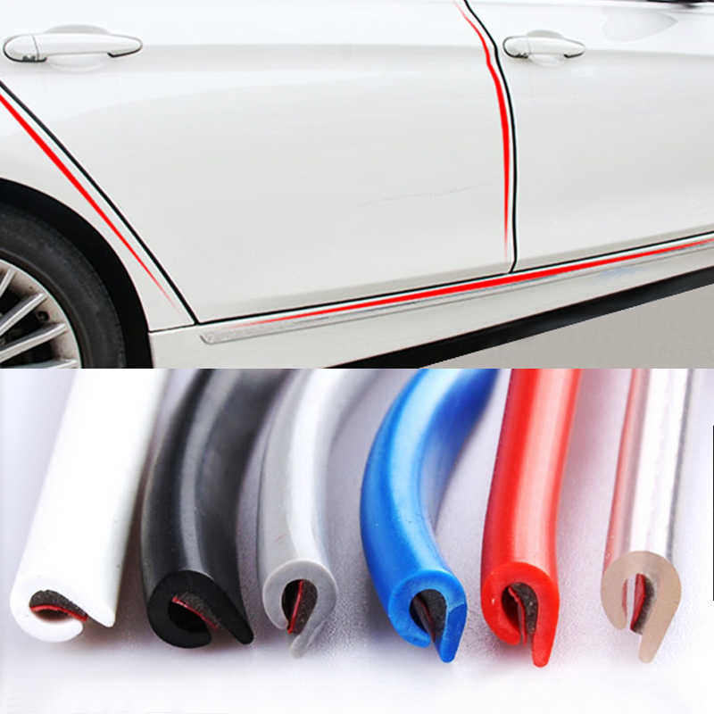 Universele Auto Deur Rand Rubber Scratch Protector 5M 10M Moulding Strip Bescherming Strips Afdichting Anti-Wrijven Diy auto-Styling