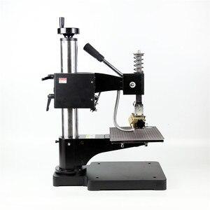 Image 2 - Máquina de estampación TF1135 rcidas, color bronce/Máquina de plegado de cuero, máquina de estampación en caliente, relieve de cuero 220V pedido mínimo 5set