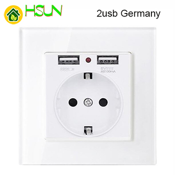 86 type White tempered glass reset toggle switch 1 2 3 4 gang 1 2 way retro hotel creative switch USB France Germany UK socket 24