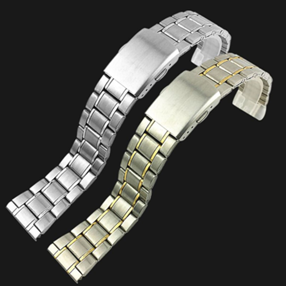 Stainless Steel Watchbands Silver 12mm 14mm 16mm 18mm 20mm 22mm Metal Watch Band Strap Wrist Watches Bracelet And Tool