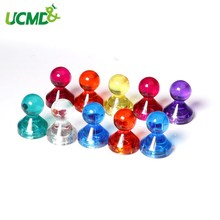 10pcs N35 Neodymium Fridge Magnets Colorful Pushpin Office Home Thumbtack for Paper Photo Memo Mounting Wall Fridge Whiteboard