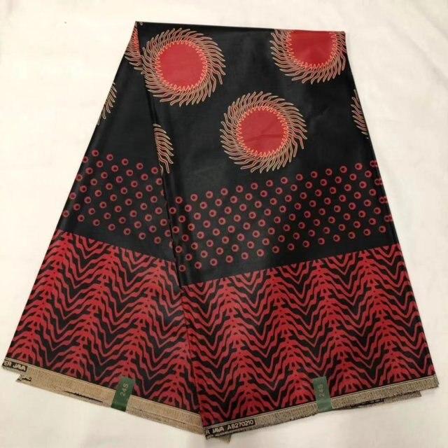2019 Latest Veritable Block Print Real Dutch Wax Holland 100% Cotton African Nigerian Super Wax Pange Fabric For Dress 6 Yards