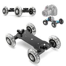 DSLR настольная камера видео колеса рельсы прокатки глайдтрек автомобиль скейт Glide камера прокатки раздвижные Долли стабилизатор Скейтер