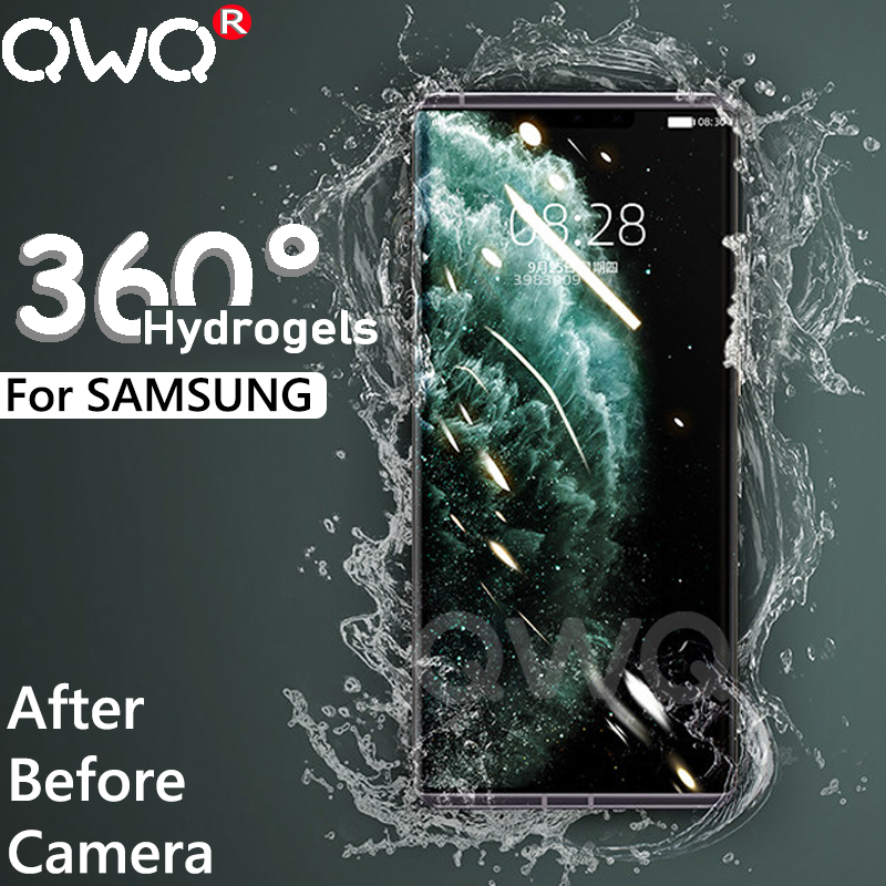 HDFull Hydrogels phone <font><b>case</b></font> for <font><b>samsung</b></font> <font><b>galaxy</b></font> A10 A50 Note 10 9 8 s8 s9 s10 plus back+camera <font><b>Glass</b></font> screen protector cover <font><b>Cases</b></font> image