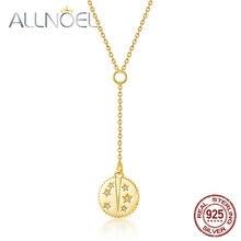 Женское ожерелье из серебра 925 пробы с подвеской в виде звезд