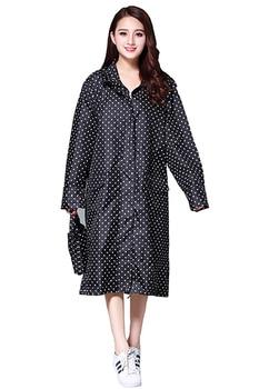 Rain Coat Women Rain Jacket Women's Stylish Rain Poncho Waterproof Rain Coat with Hood Sleeves and Pocket Adults Rainwear CC50YY