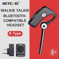 Retevis-auriculares inalámbricos compatibles con Bluetooth, walkie-talkie, PTT dedo para Kenwood Retevis Baofeng UV 5R UV 82 BF888S