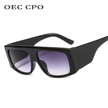 OEC CPO Fashion Square Style Oversized Shield Mask Sunglasses Women Gradient Brand Design Sun Glasses UV400 Oculos De Sol  O240