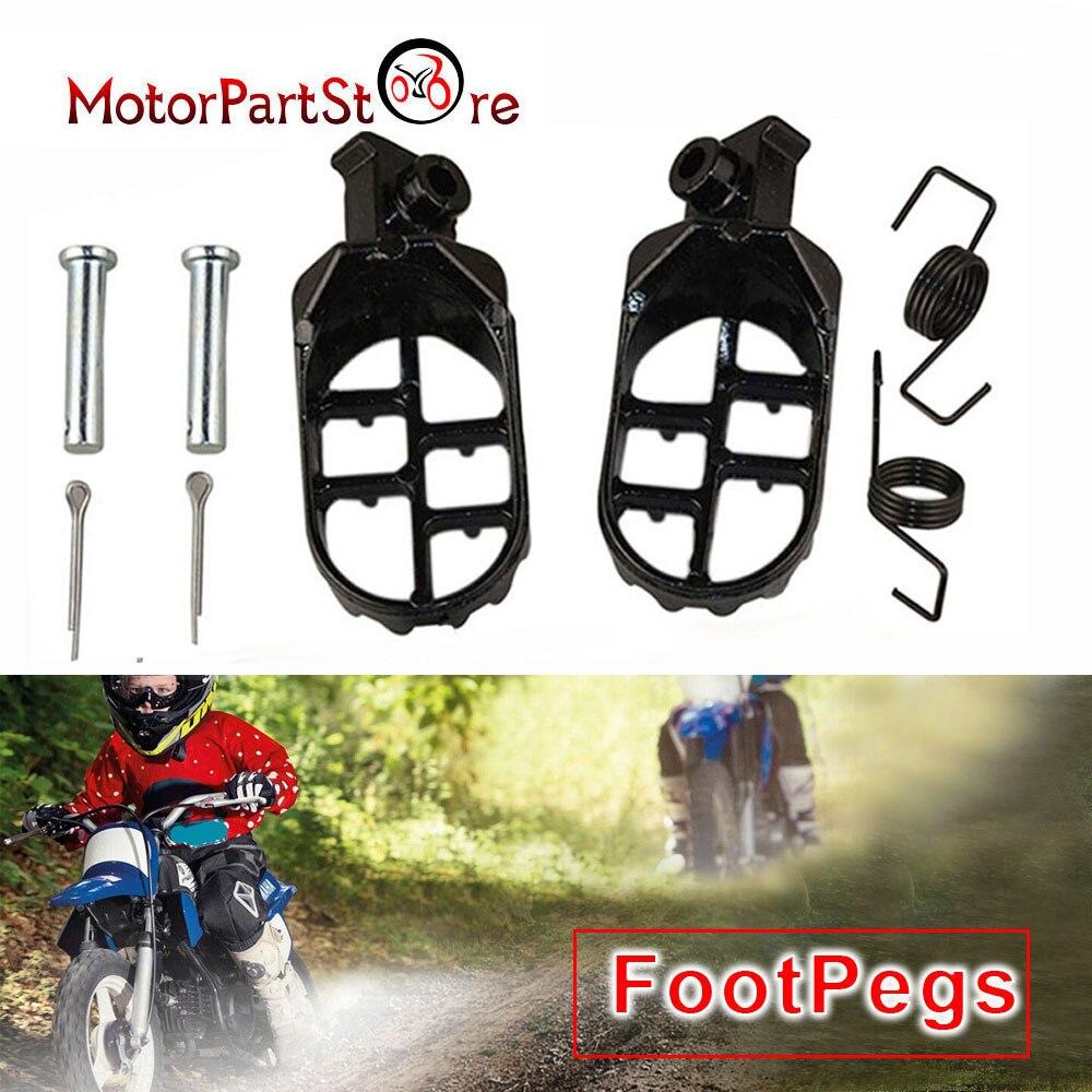 Racing Footrest Footpegs Honda XR CRF 50 70 80 100 150 Dirt Bike Motocross