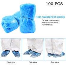 100шт одноразовые бахилы полиэтиленовые чехлы для чистки защитная крышка ковров галоши